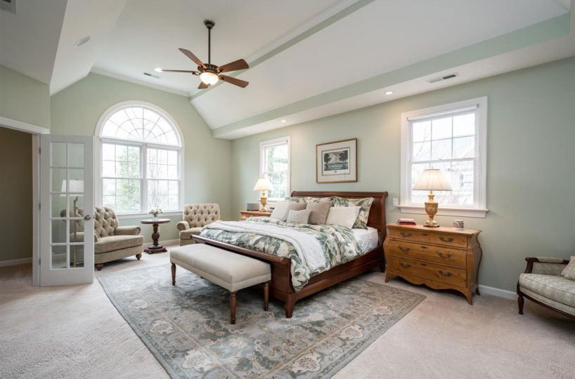Master Bedroom of home for sale in Cary NC
