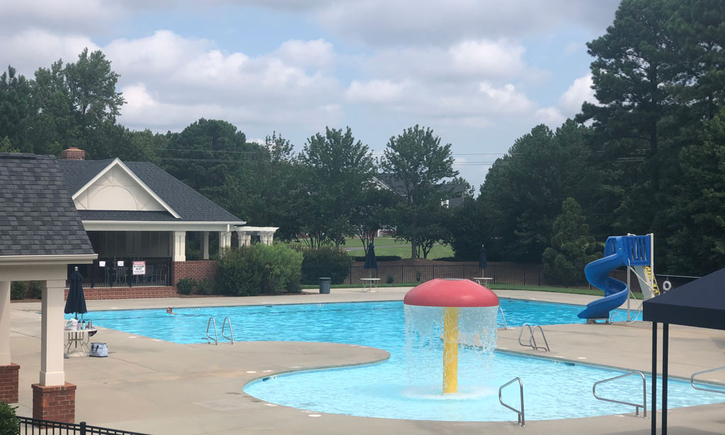 Community pool in Highcroft neighborhood in