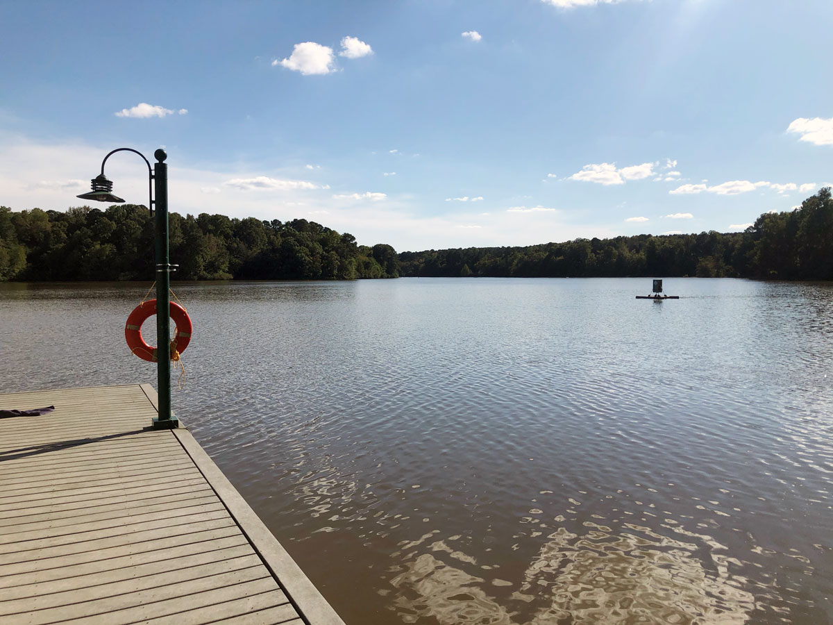 Holly Springs NC - lake and dock